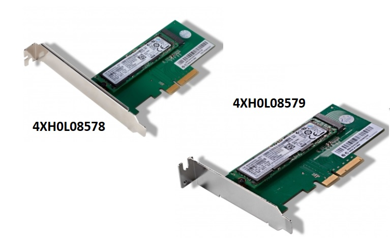 Picture of the ThinkStation M.2 SSD Adapter
