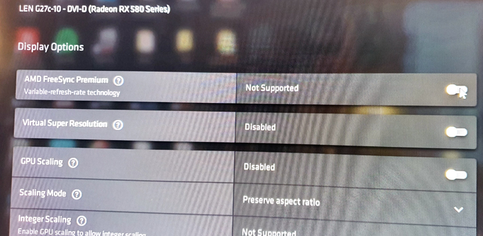 Radeon drivers says Freesync not supported check picture these are latest drivers