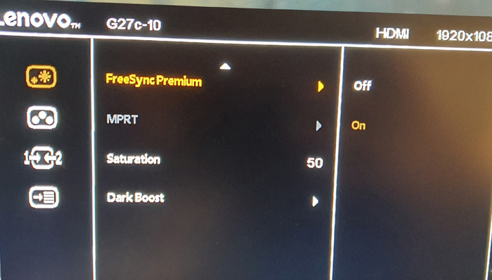 Freesync premium is enabled but it doent matter if its enabled or not everything remains same