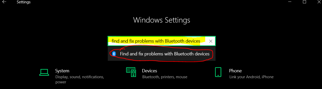 Windows 10 Bluetooth Troubleshooter