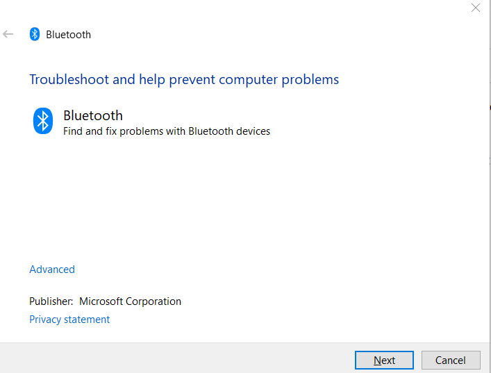 Bluetooth troubleshooting utility