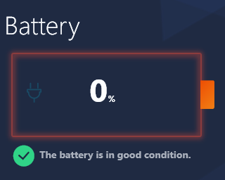 Battery is in good condition