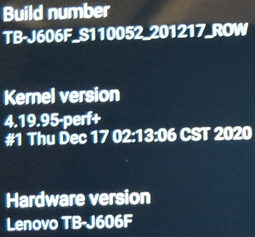 P11 Firmware Version