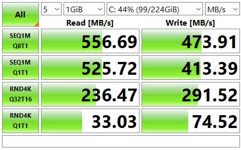 CrystalDisk TEST SSD