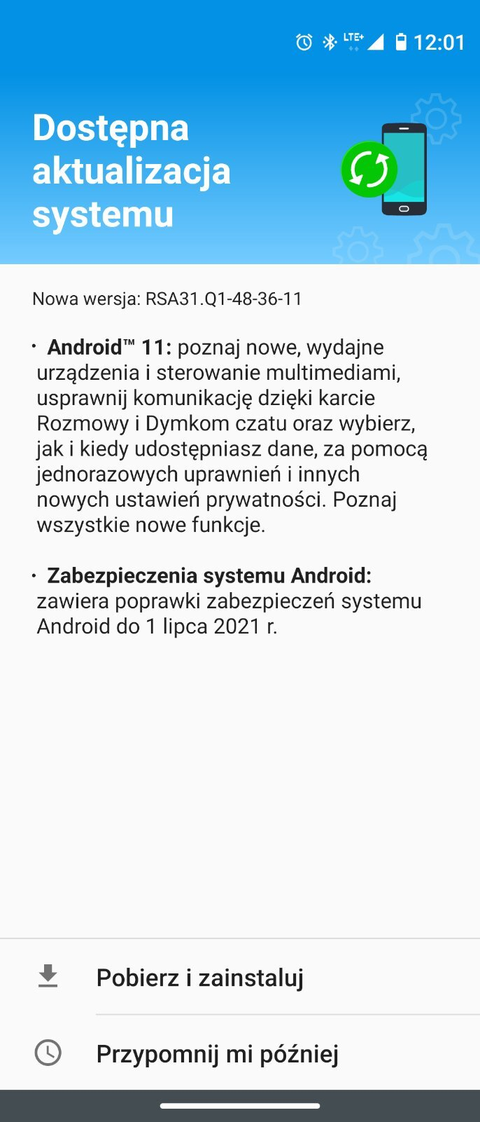 Today  - Android 11 in Poland